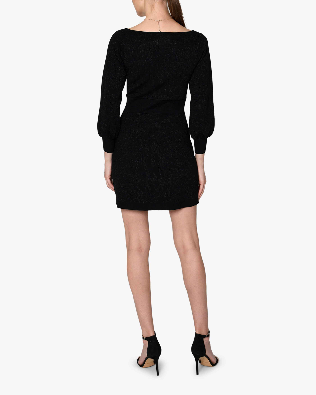 Nicole Miller Puff-Sleeve Square-Neck Mini Dress 2