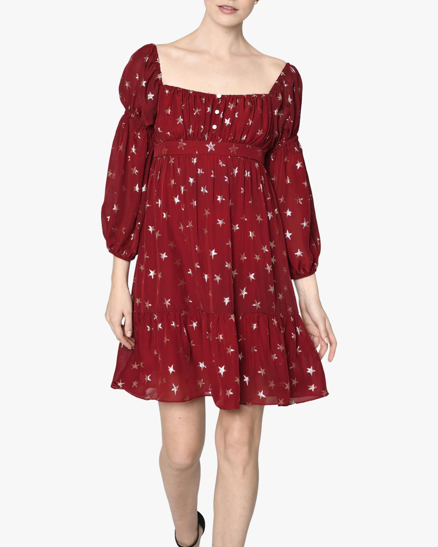 Nicole Miller Star Puff-Sleeve Mini Dress 1