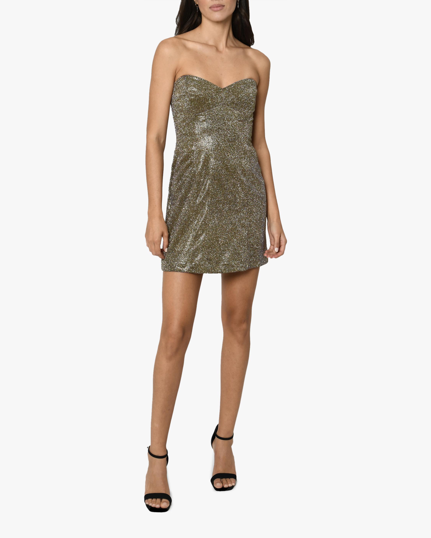 Nicole Miller Iridescent Bustier Mini Dress 1
