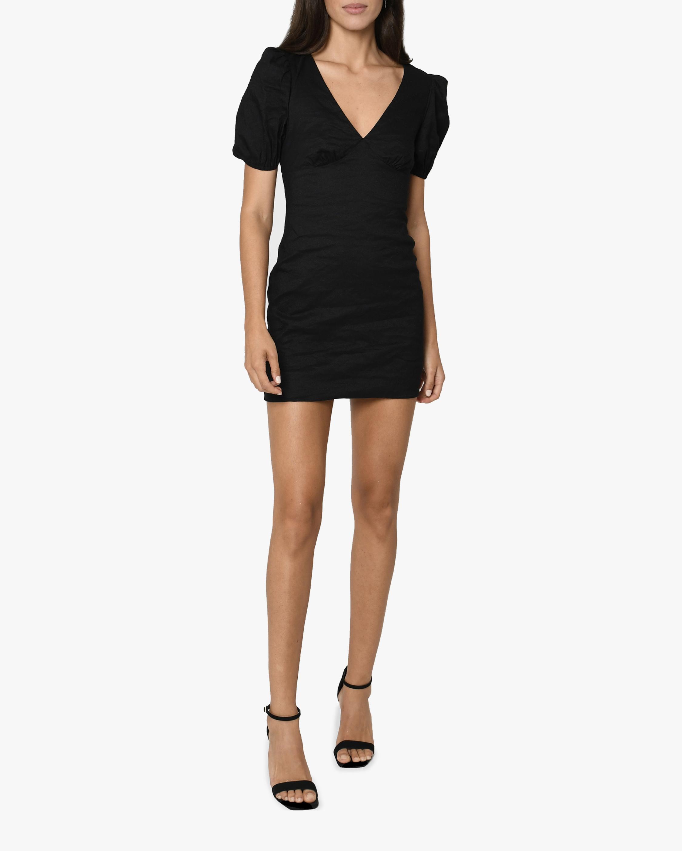 Nicole Miller Balloon-Sleeve V-Neck Mini Dress 1