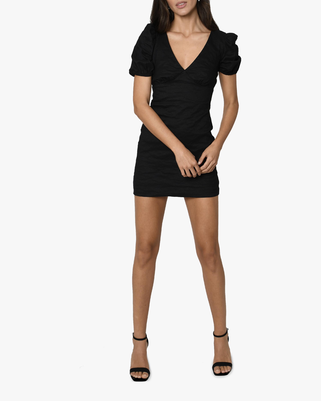 Nicole Miller Balloon-Sleeve V-Neck Mini Dress 2