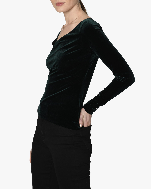 Nicole Miller Velvet Asymmetrical Top 2