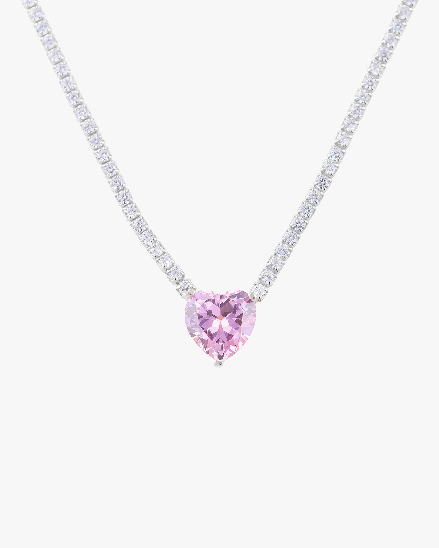 SHYMI Statement Heart Tennis Necklace 2