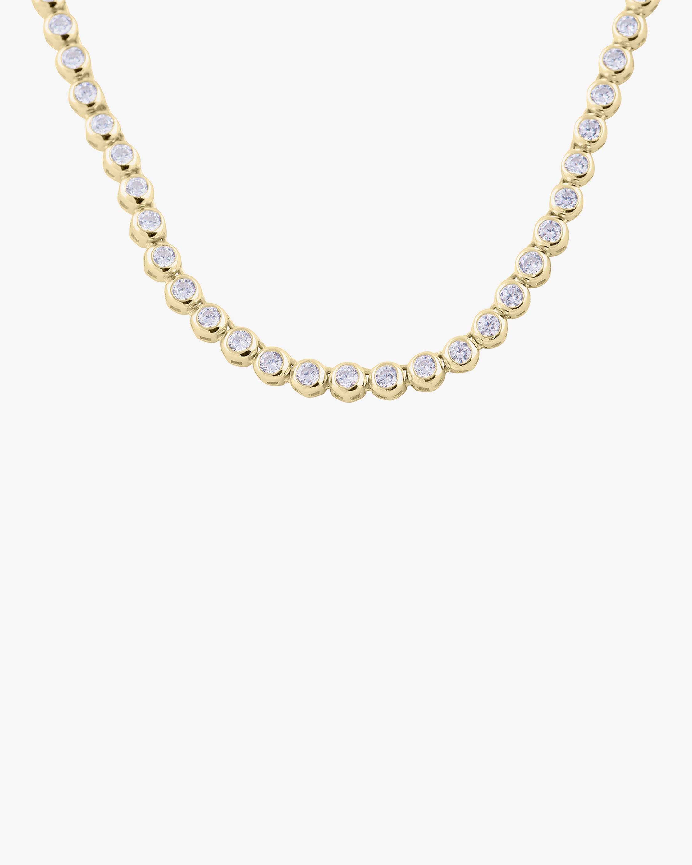 SHYMI Bezel-Set Tennis Necklace 1