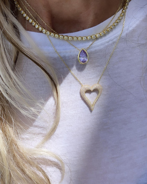 SHYMI Bezel-Set Tennis Necklace 2