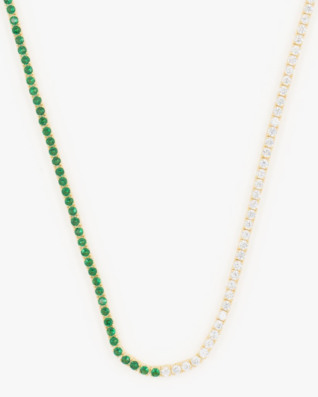 SHYMI Half & Half Tennis Necklace 1