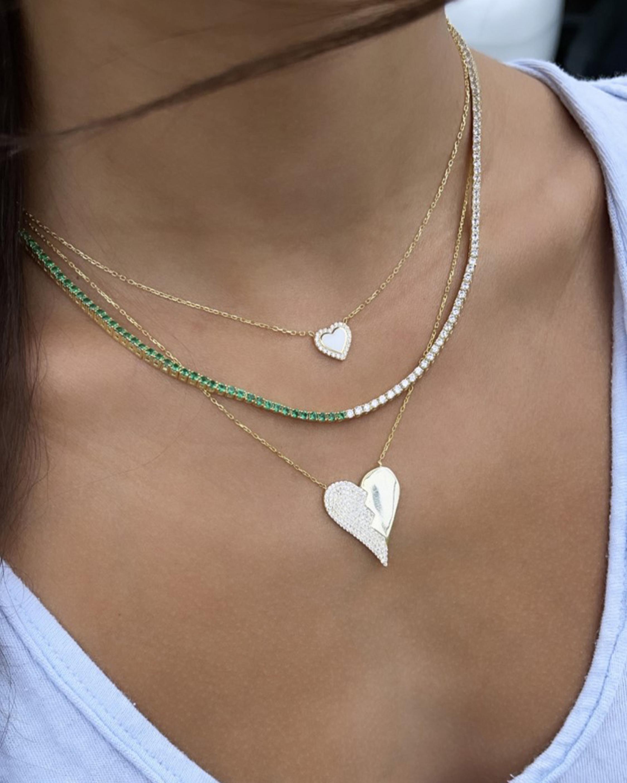 SHYMI Half & Half Tennis Necklace 2