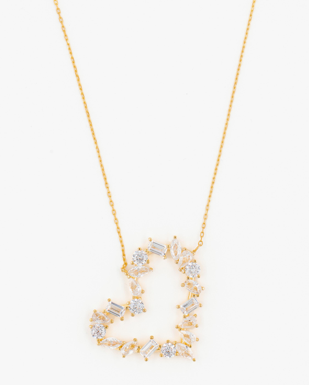 SHYMI Multi-Stone Heart Pendant Necklace 1