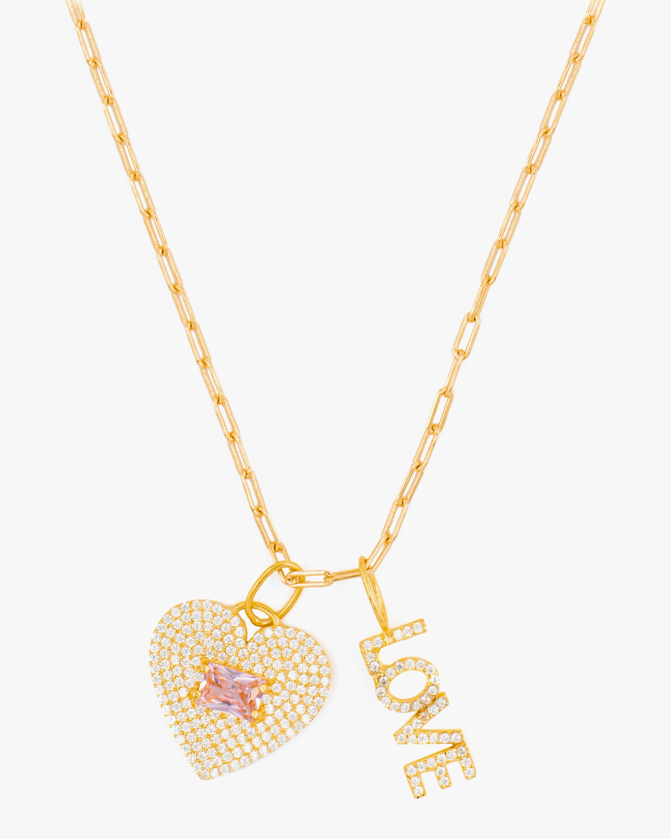 SHYMI Exclusive Pave Love Charm Necklace 1