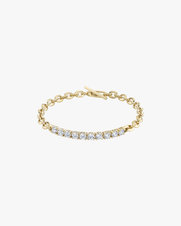 Lizzie Mandler XS Knife-Edge Link & Diamond Tennis Bracelet 1