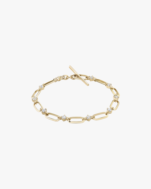 Lizzie Mandler Diamond Alternating Link Bracelet 1