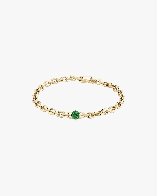 Lizzie Mandler Emerald XS Knife-Edge Link Bracelet 2