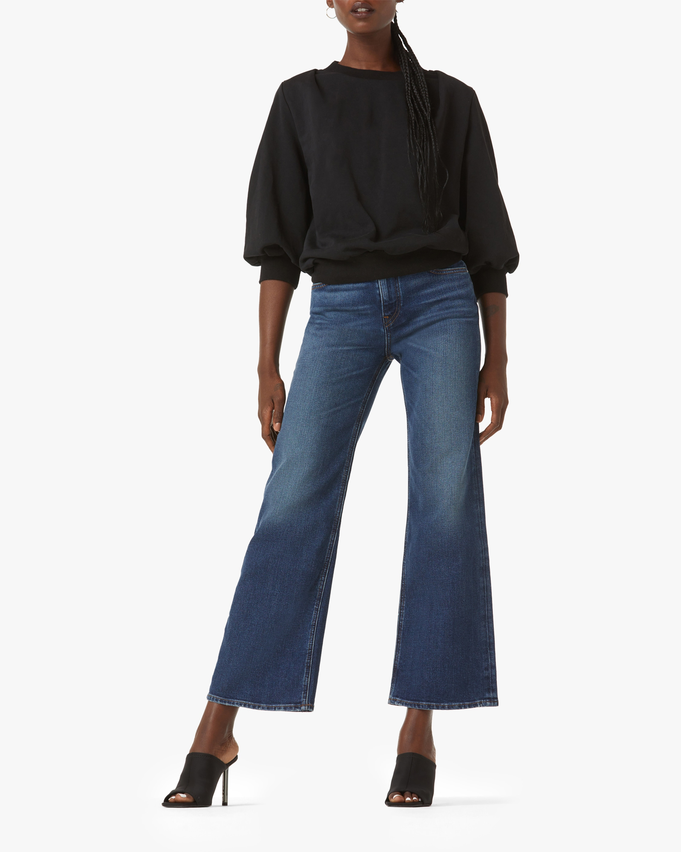 Hudson Rosie High-Rise Wide-Leg Ankle Jeans 1