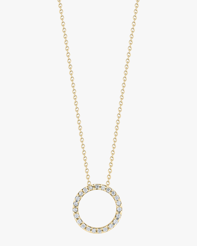 Roberto Coin Diamond Petite Circle Pendant Necklace 2