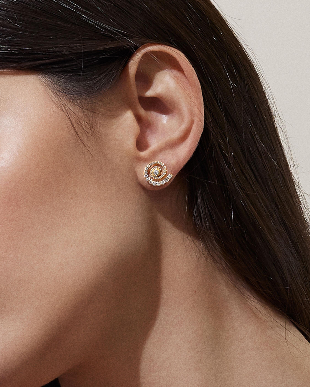 ARK Diamond-Trim Destiny Stud Earrings 2