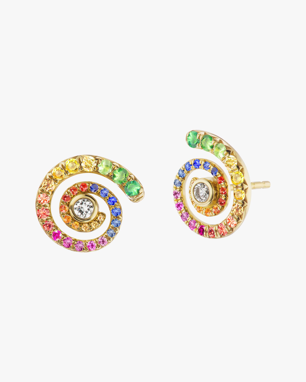 ARK Diamond & Gemstone Rainbow Destiny Stud Earrings 1