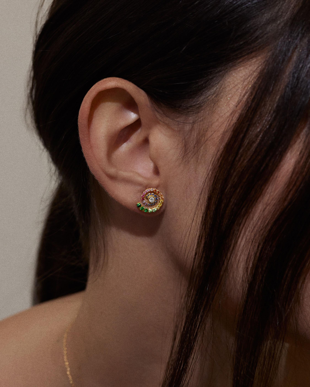 ARK Diamond & Gemstone Rainbow Destiny Stud Earrings 2