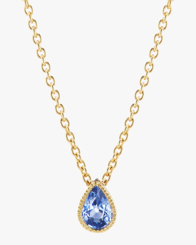 ARK Blue Sapphire Lakshmi Teardrop Pendant Necklace 2