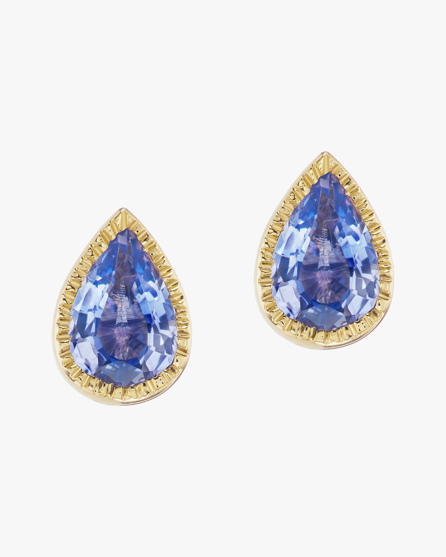 ARK Sapphire Teardrop Lakshmi Stud Earrings 2