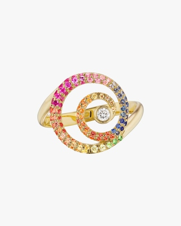 ARK Diamond & Gemstone Rainbow Destiny Ring 1