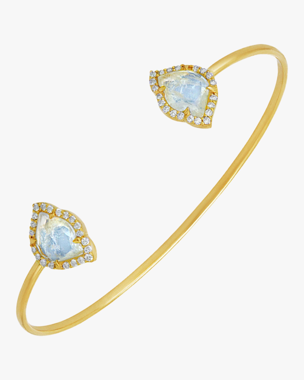 Nalika Lotus Moonstone Cuff Bracelet