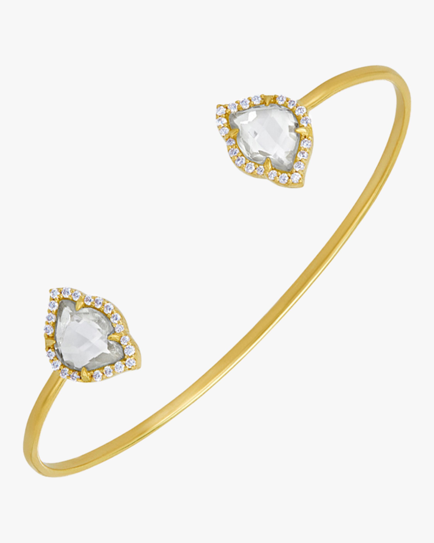 Nalika Lotus Topaz Cuff Bracelet