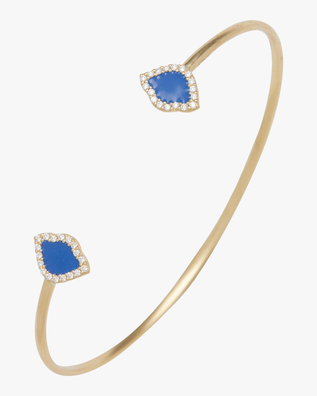 Kamalini Lotus Enamel Cuff Bracelet