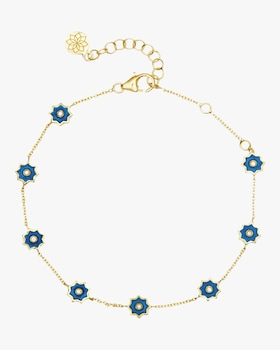 Mini Enamel Star Chain Bracelet