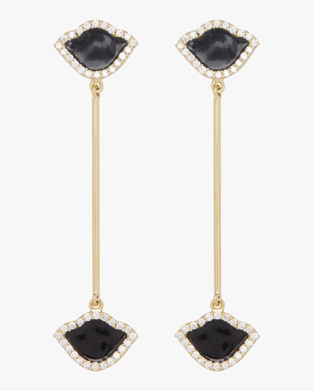 Nalika Lotus Enamel Earrings