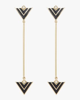 Convertible Enamel Triangle Earrings