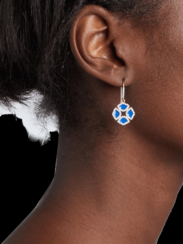 Manjari Lotus Enamel Earrings