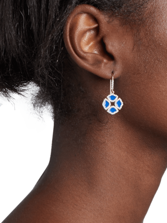 Manjari Lotus Enamel Earrings