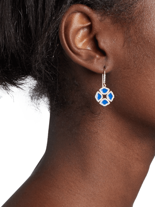 Legend Amrapali Manjari Lotus Enamel Earrings 1