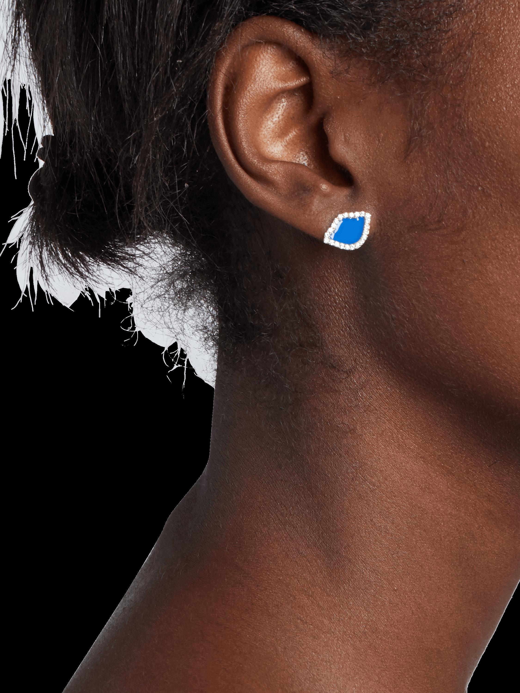Nalika Lotus Enamel Stud Earrings