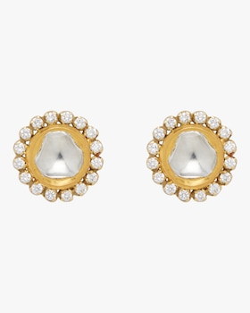 Kundan Diamond Post Earrings