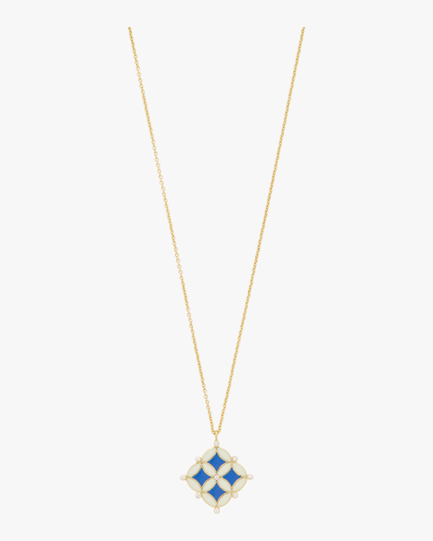 Enamel Mosaic Pendant Necklace