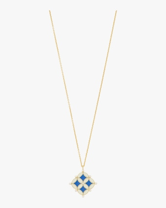 Enamel Mosaic Pendant Necklace