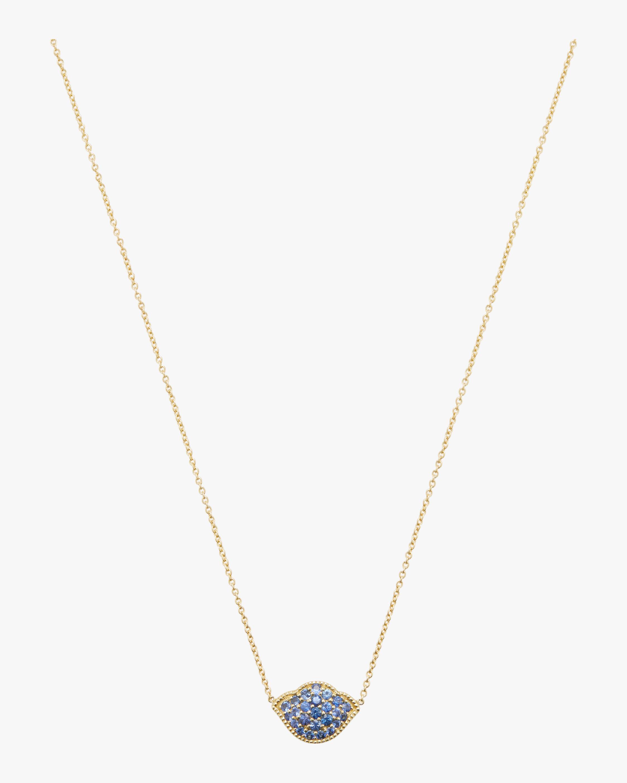 Nalika Lotus Pavé Pendant Necklace