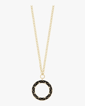 Chevron Circle Pendant Necklace