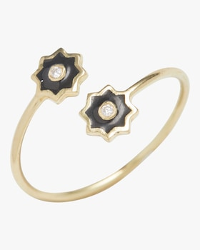 Enamel Icon Star Wrap Ring