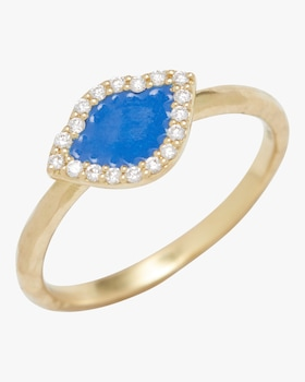 Kamalini Lotus Enamel Stack Ring