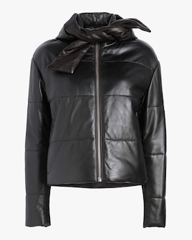 Sharpe Leather Puffer Jacket