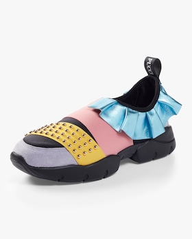 Studded Ruffle Sneaker