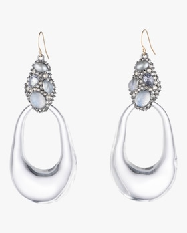 Stone Cluster Link Earrings