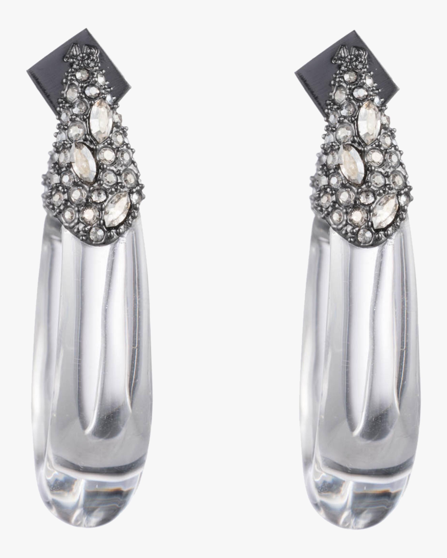 Crystal Encrusted Hoop Earrings