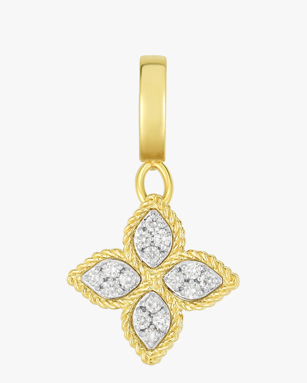 Diamond Pavé Flower Pendant