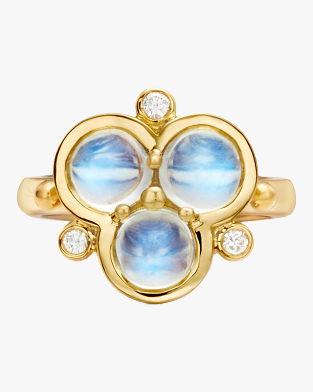 Blue Moonstone Trio Ring