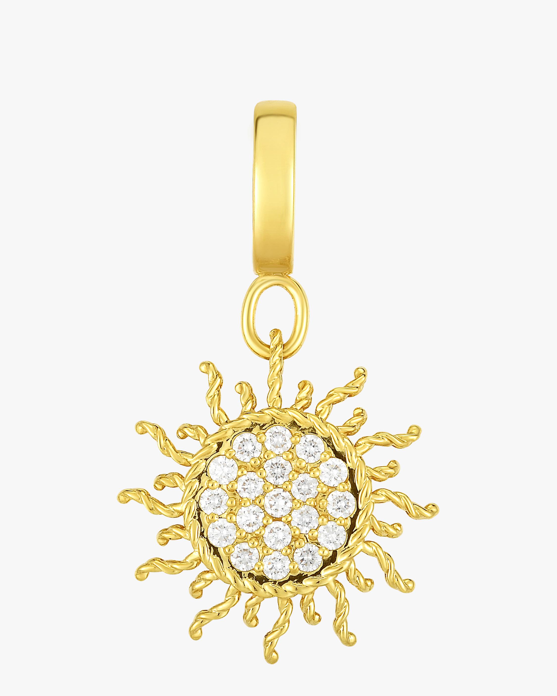 Diamond Pavé Sun Pendant