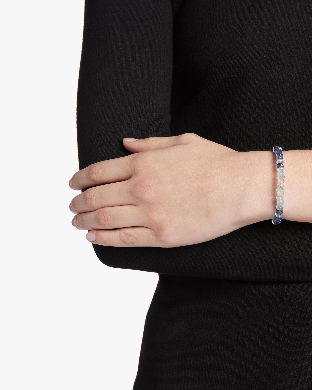 Classic Chain Aquamarine and Kyanite Bracelet