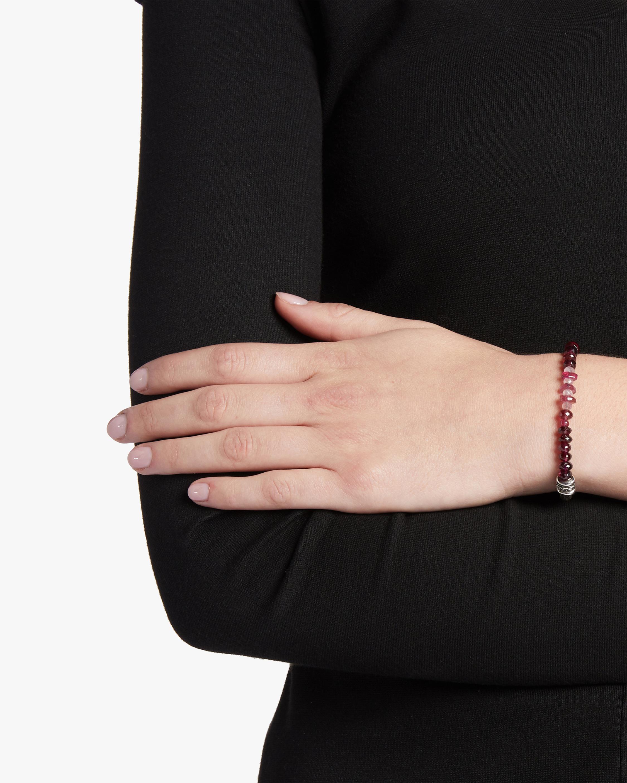 Classic Chain Tourmaline and Garnet Bracelet